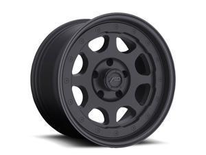 (1) Pacer 007166SB NIGHTHAWK 17X8.5 5X5.00 78.00 Hub -06 Offset Black Wheel Rim