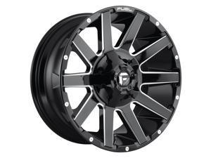 Fuel D615 Contra Gloss Black Milled 18x9 6x135 / 6x139.7 -12mm (D61518909845)