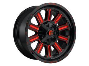 Fuel 1Pc hardline 20x9 8x165.1 1et 125.10mm gloss black red tinted clear wheel