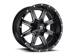 Fuel 1Pc maverick 20x9 8x170 1et 125.10mm gloss black milled wheel
