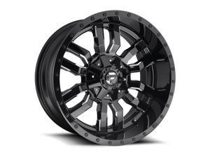 Fuel 1Pc sledge 18x9 5x114.3/5x127 -12et 78.10mm gloss black milled wheel