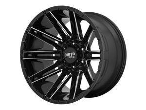 Moto Metal kraken 20x9 8x165.1 0et 125.50mm gloss black milled wheel