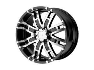 Helo he835 17x8 6x139.7 0et 106.25mm gloss black machined wheel