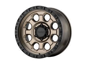 American Racing ar201 17x9 5x127 -12et 78.30mm matte bronze black lip wheel