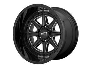 Moto Metal phantom 20x10 8x170 -18et 125.50mm gloss black milled wheel