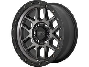 Kmc mesa 17x9 8x170 -12et 125.50mm satin black with gray tint wheel