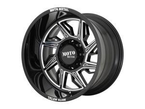 Moto Metal hurricane 22x12 6x135 -44et 87.10mm gloss black milled - right directional wheel