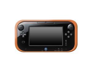 HELLFIRE TRADING Wii U ORANGE SILICONE SOFT COVER RUBBER GEL SKIN CASE FOR NINTENDO Wii U