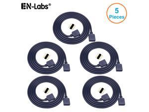 EnLabs 12V 4pin RGB Female to Female 4 Pin Extension Connector Cord Wire for PC RGB Fan Cooler & LED Light Strips-1.64FT - 5 Pack