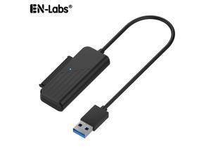 6-inches Super Speed USB 3.0 To SATAIII 6Gbps 22 Pin 2.5 Inch Hard Disk Driver Adapter Cable Converter w/UASP, SATA to USB 3.0 Converter for SSD/HDD