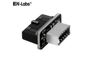 Motherboard Internal USB 3.0 20Pin/19P Header to Type-E A-Key USB 3.1 20 Pin Adapter for Type C Front Panel Chassis Bracket (Straight Type)