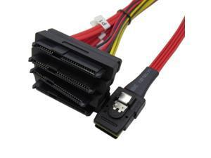 1 Meter Internal 36 Pin Mini SAS SFF-8087 Host/Controller to 4x SAS 29Pin SFF-8482 Target/Backplane Hard Disk ,Power by Molex 4pin LP4