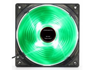 120mm PC Computer 16dB Ultra Silent 4 LEDs Case Fan Heatsink Cooler Cooling,12CM Fan,Power by Molex 12Vdc