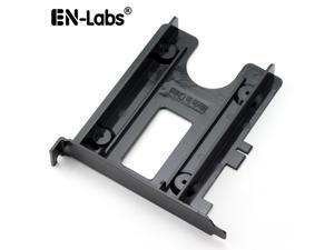 "EnLabs PCIBR25SSD PCI Slot 2.5"" HDD/SSD Mounting Bracket - 2.5"" HDD to PCI Slot Rear Panel  Hard Drive Adapters - Black"
