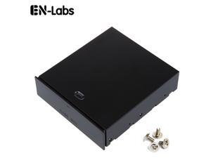 """Enlabs FP525BOX 5.25"""" Bay Metal Case Box Organizer Drawer for Storage Devices,Memory Cards,USB Flash Drive, Accessories - Black"""