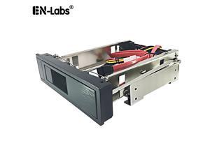 "EnLabs 525RACK35SATA 5.25"" CD-ROM Space internal 3.5 inch SATA HDD Frame/Mobile Rack w/ SATA Data & Power Cable - Internal SATA Backplane Enclosure"