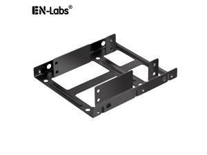"EnLabs 2X25TO35MA Metal Dual 2.5"" to 3.5"" Hard Drive Bay Mounting Bracket - 2 X 2.5"" to 3.5"" HDD / SSD Mounting Bracket - Black"