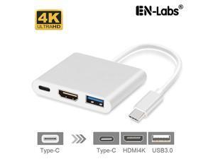 USBC2HDUAPD USB Type-C to HDMI-compatible 4K2K+USB 3.0+USB-C PD 20V5A Charging Port Adapter Cable Converter (DP ALT Mode) for MacBook/Chromebook Pixel/Sumsang Galaxy S8/S9/Lenovo Yoga 900/DELL XPS13