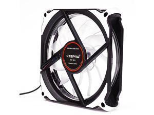 EnLabs Solar Eclipse Serial 12CM Light Loop PC Computer 16dB Ultra Silent 4pin+3pin Case Fan w/ Anti-Vibration Rubber Pads,120x120x25mm Case Fan w/ White LED