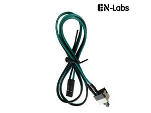 """Enlabs PWSW50CM 2 Pin SW PC Power Switch Cable, ATX Computer on/off Push Button Switch Wire for Case Connects to motherboard - 20"""""""