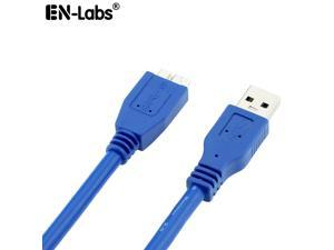 EnLabs Micro USB Cable,USB 3.0 A-Male to Micro B Cable for Samsung Galaxy S5, Note 3, Camera, Hard Drive in Blue,1.0m/3FT