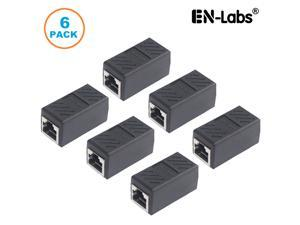 Cat6 Ethernet Shielded Protection 8P8C RJ45 Network Jack In-Line Coupler Female,Lan Patch Cord Cable Extender Adapter - 6 Pack