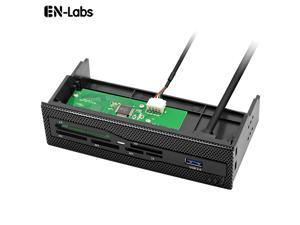 EnLabs U2CR525U3 5.25 inch PC Case Mesh Front panel All-in-1 Multifunction CF/XD/MS/M2/SD/TF Internal USB 2 .0 Card Reader USB Flash Memory w/ USB 3.0 Port