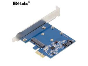 EnLabs PCIe X1 To MSATA SSD & SATA3.0 Combo Expansion Card, ASM1061 Chipset PCI Express Controller Mini SATA SSD Adapter for PC Desktop w/ Standard Profile Bracket