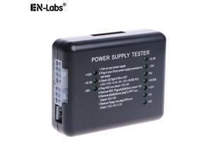 EnLabs PSUTESTER01 PC Computer 20/24 Pin Power Supply Tester With CPU ATX 4-pin,EPS 8pin, PCIe 6pin, SATA 15pin,HDD Molex 4pin, Floppy Small 4pin Connectors