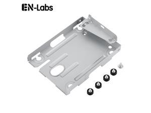 """Internal 2.5"""" Hard Disk Drive HDD / SSD Mounting Bracket Stand Kit Replacement Caddy for Sony Playstation 3 PS3 Super Slim Console System ECH-400x Series with Screws"""