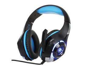 EnLabs 3.5MM Gaming Headset Headphone w/ Microphone for PS4 Xbox One Cellphone Mac Laptops Computer - Crystal Stereo Bass Surround Sound, Noise Reduction Game Earphone-Volume Control with LED Lighting