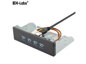 4 Ports USB 3.0 5.25 inch Metal Front Panel USB Hub,Motherboard USB 20 pin to 4 x USB 3.0 Spliter Adapter Cable w/ 5.25 inch Metal Bracket