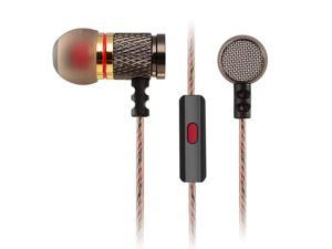 3.5mm In-ear Earphone Earbuds,Special Edition Classics Gold Plated Housing Extra Bass Shocking HD HiFi Headphones with Microphone for DJ Music Phone Calling Computer MP3