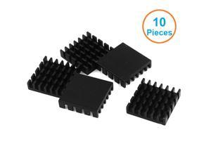 10pcs/lot Anodized Black Aluminum Heatsink 20x20x6mm Electronic Cooling Radiator Cooler for Graphics Video Card, IC,Motherboard
