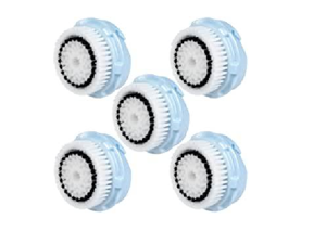 5pcs BRUSH HEAD COMPATIBLE REPLACEMENT BRUSH FOR CLARISONIC DELICATE FACIAL CLEANSING AND MIA 1, 2, 3 (ARIA), SMART PROFILE, ALPHA FIT, PLUS, SONIC RADIANCE.