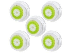 General 5Pcs Hofoo Replacement Facial Brushes Heads Compatible with Clarisonic MIA & MIA 2, PRO, PLUS Facial Cleansers - Acne Skin