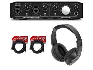 Mackie Onyx Producer 2.2 USB MIDI Recording Studio Interface+Headphones+Cables
