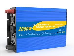 Solinba Car Power Inverter 2000w/Peak 4000w Converter DC12v to AC110v 60Hz