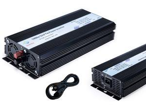 Solinba 1000w on grid tie pure sine wave power inverter DC22-56v to AC 90-130v, 46-65Hz, USA plug, black color