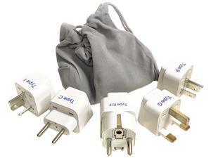 Ceptics GP-5PK International Travel Worldwide Plug Adapter Set