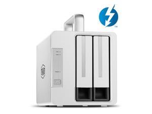 TerraMaster TD2 Thunderbolt 3 Professional-Grade 2-Bay External Hard Drive Enclosure RAID 0/RAID1/JBOD Hard Disk RAID Storage (Diskless)