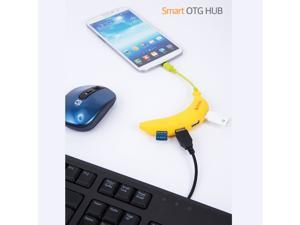 Multi-function OTG Mobile USB Hub Adapter, 4-USB Port, for Android and PC with Micro USB Extension Cable