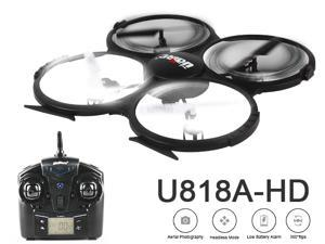 UDI U818AHD 2.4GHz 4CH 6 AXIS Headless RC Quadcopter with HD Camera, 360 Flips and Return Home Function UFO