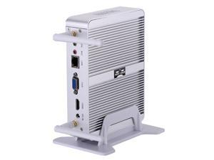 Partaker Fanless Mini PC,Desktop Computer,with Windows 10 Pro/Linux Ubuntu support,Intel Core I3 4020Y CPU,(Silver),[1VGA/1HDMI/1LAN/4USB3.0/2USB2.0/WiFI],(4G RAM/32G SSD)