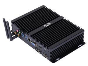 Industrial PC Intel Core i5 8250U 2 RS232 COM Fanless Mini PC windows 10 linux HD-MI VGA HTPC Intel Core i5 mini PC No Ram No Storage No System