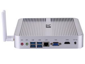 Desktop Computer Fanless Mini PC Windows 10 OEM/ Linux With Intel Core I5 4200U/4210U/4230U/4250U Partaker B1 WiFi 300Mbps 4G RAM 64G SSD