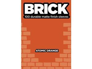 Deck Protector Brick Atomic Orange 100ct Durable Matte Finish Card Sleeves Legion Supplies