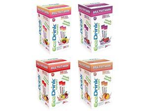 Eco-Drink Eco-Drink Bulk Variety Pack 4 Flavors 96 Packets Multivitamin Fruit