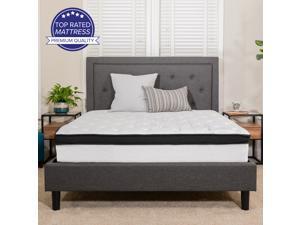 Capri Comfortable Sleep 12 Inch Memory Foam and Pocket Spring Mattress, King in a Box