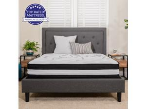 Capri Comfortable Sleep 12 Inch Foam and Pocket Spring Mattress, Twin Mattress in a Box